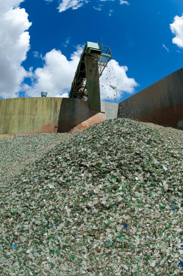 planta reciclaje de vidrio