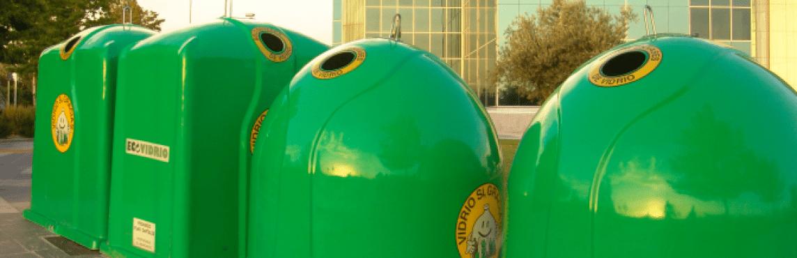 Contenedor verde ecovidrio