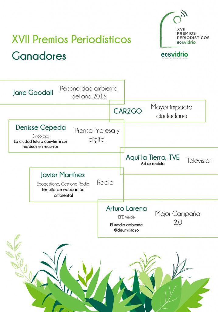 Ganadores XVII Premios Periodisticos Ecovidrio