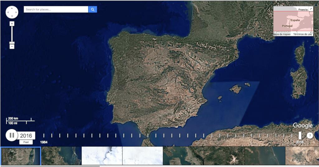 mapa time-lapse google