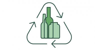 simbolo reciclaje vidrio