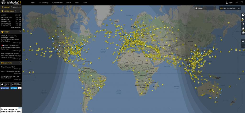 Mapas Flight Radar