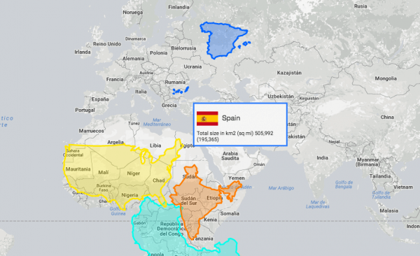 Mapas True Size Of