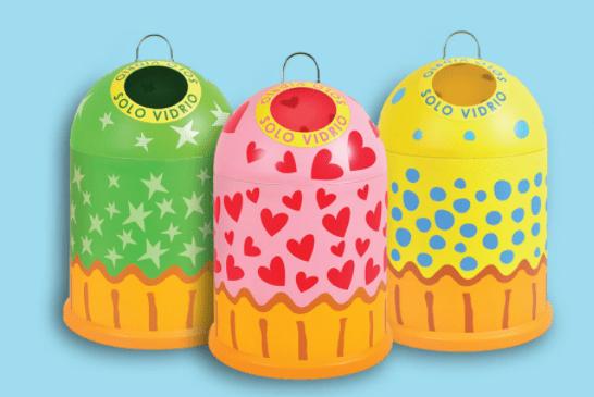 miniglu cupcake ecovidrio