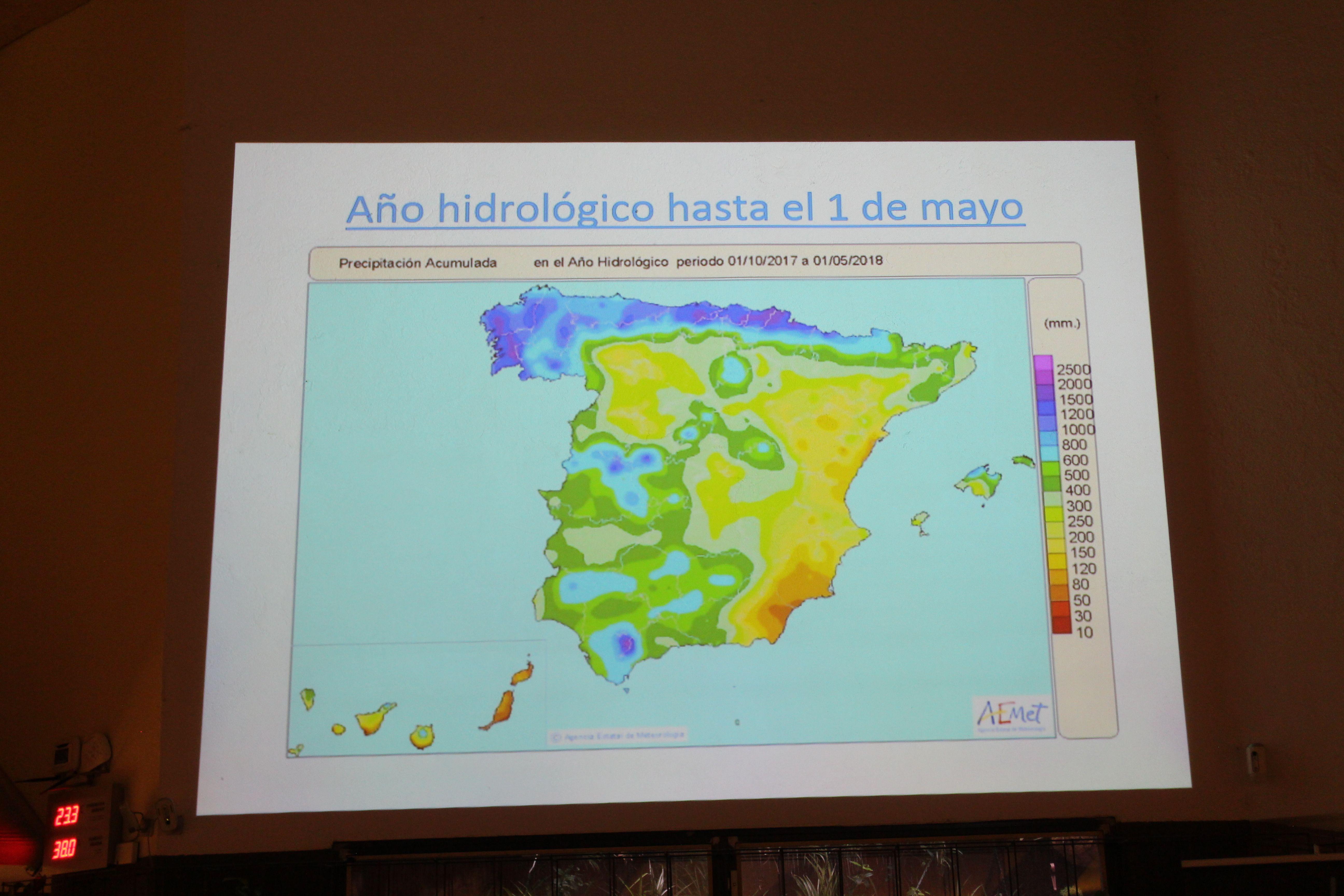 mapa año hidrológico