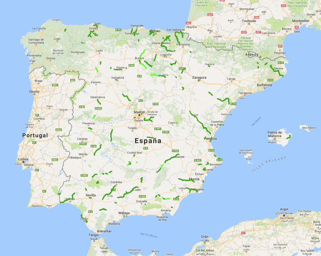 Mapa vías verdes