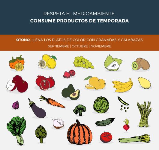 frutas y verduras de otoño
