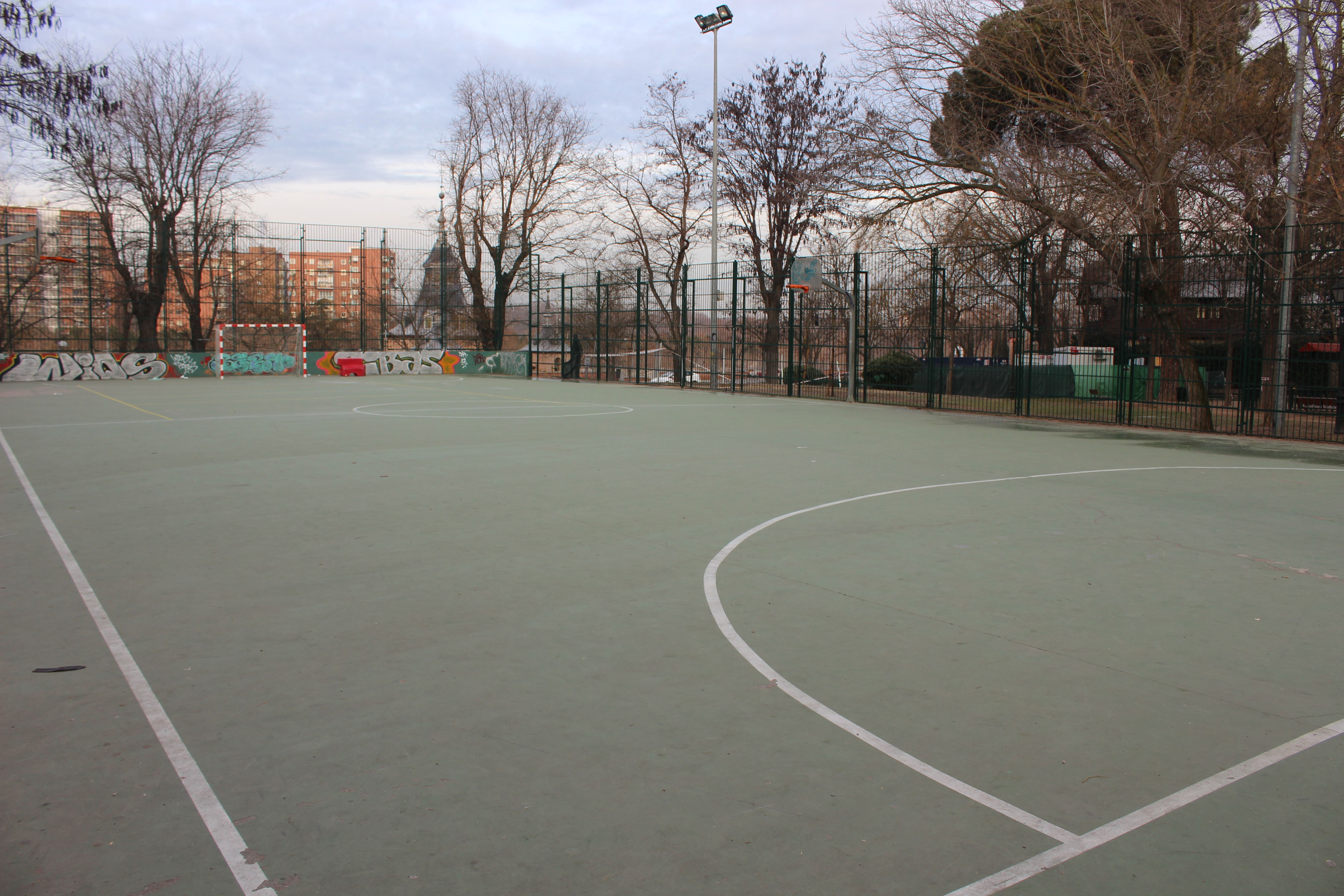 baloncesto ecologico - campaña de concienciación - pista de basket que se reformará