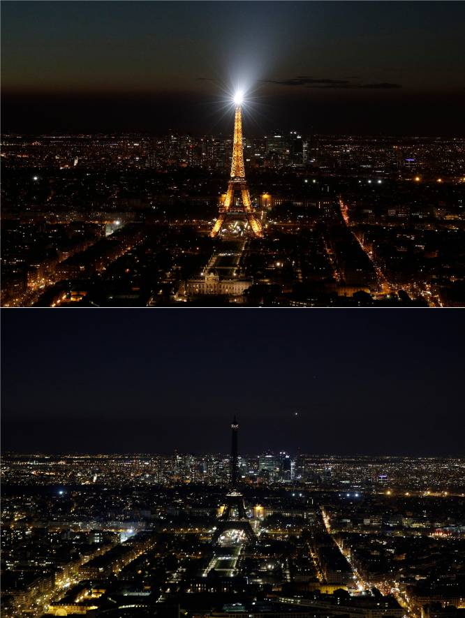 Hora del planeta - torre eiffel