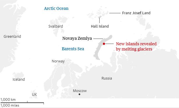 subida del nivel del mar - islas nuevas