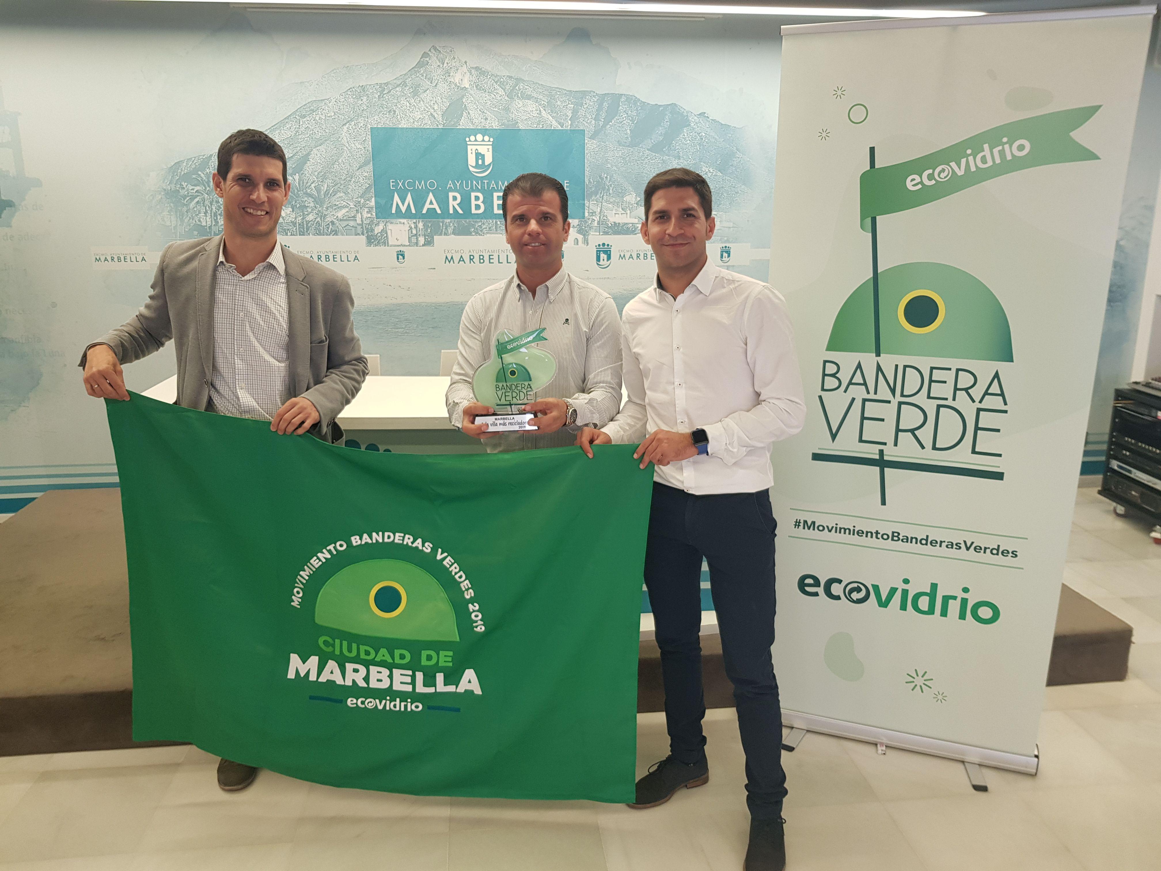 entrega banderas verdes - marbella