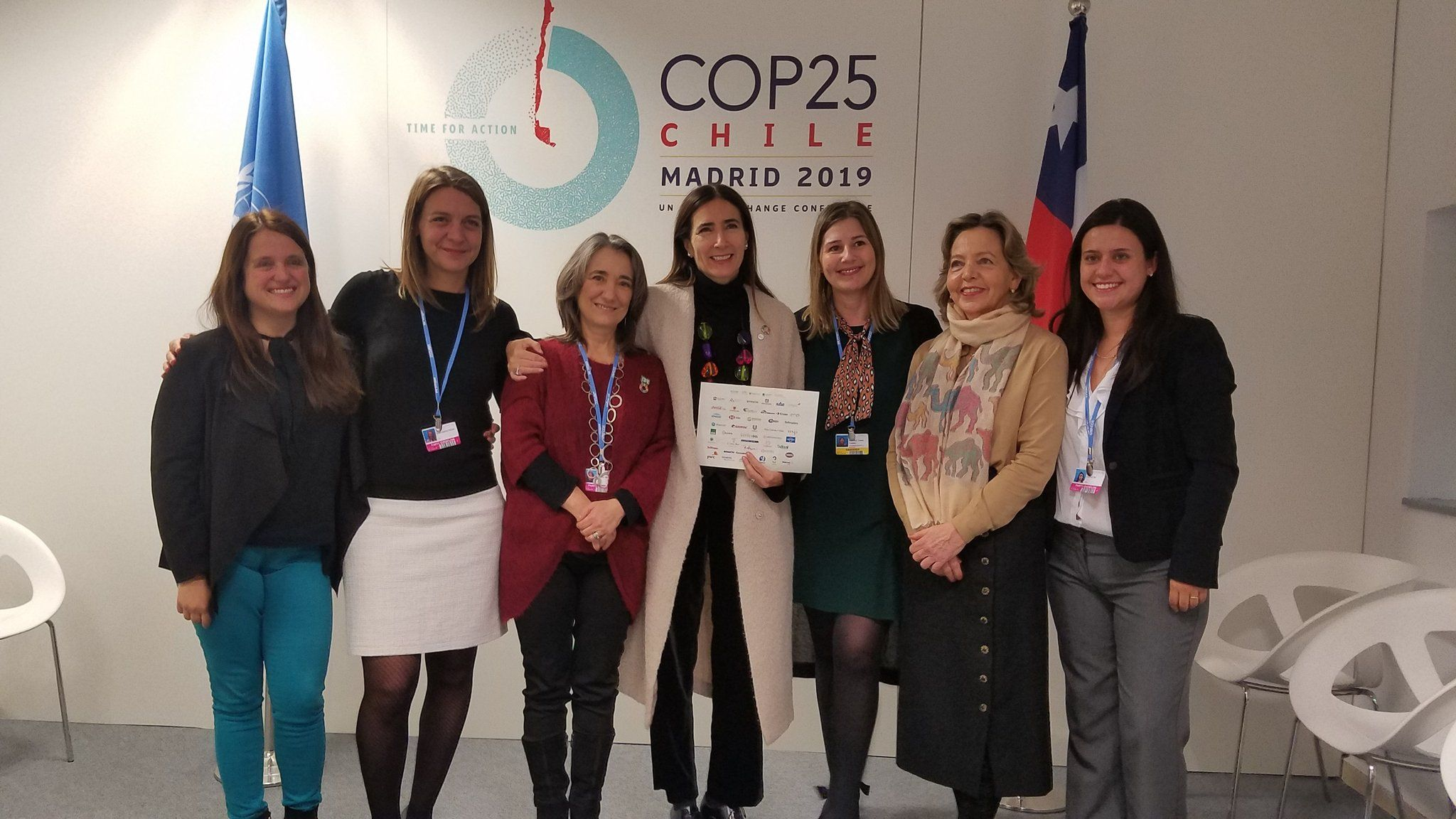 COP 25 - Carolina Schmidt y empresas comprometidas