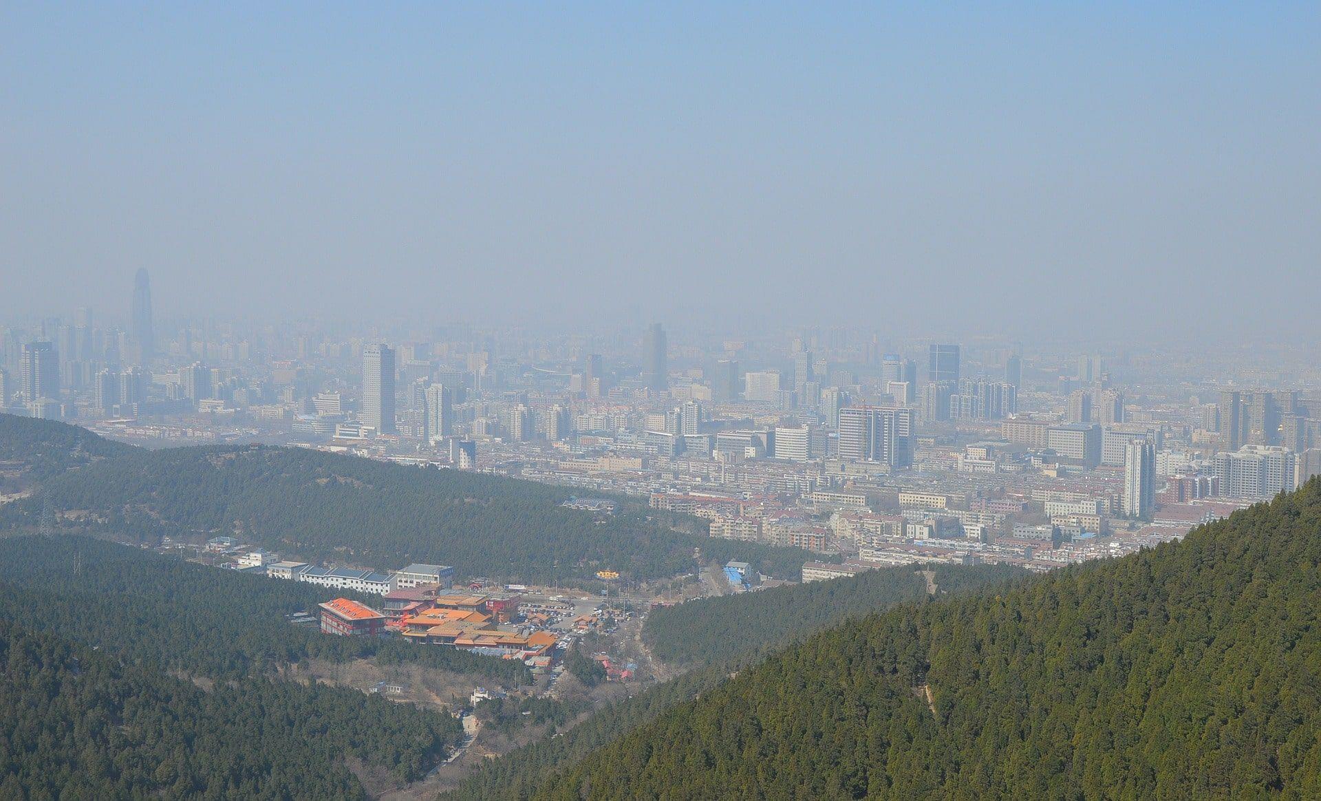 emergencia climatica - nube de contaminacion en china