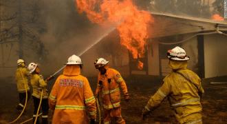 incendios forestales en australia - bomberos