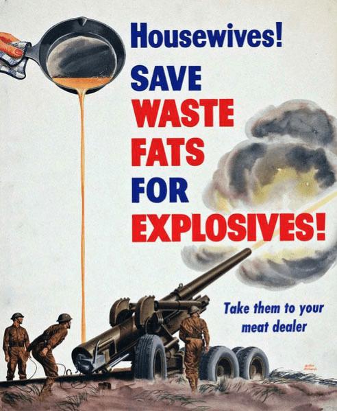 cartel historia del reciclaje en la II guerra mundial