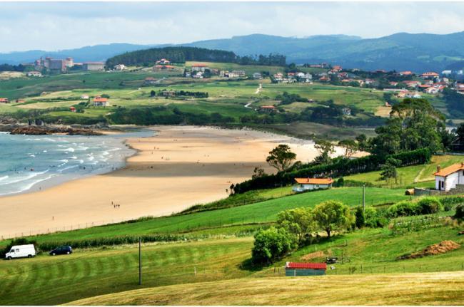 Imágenes de paisajes increíbles de España: Playa Oyambre (Cantabria)