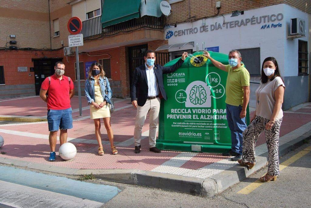 Contenedores Ecovidrio - Campaña contra el Alzheimer