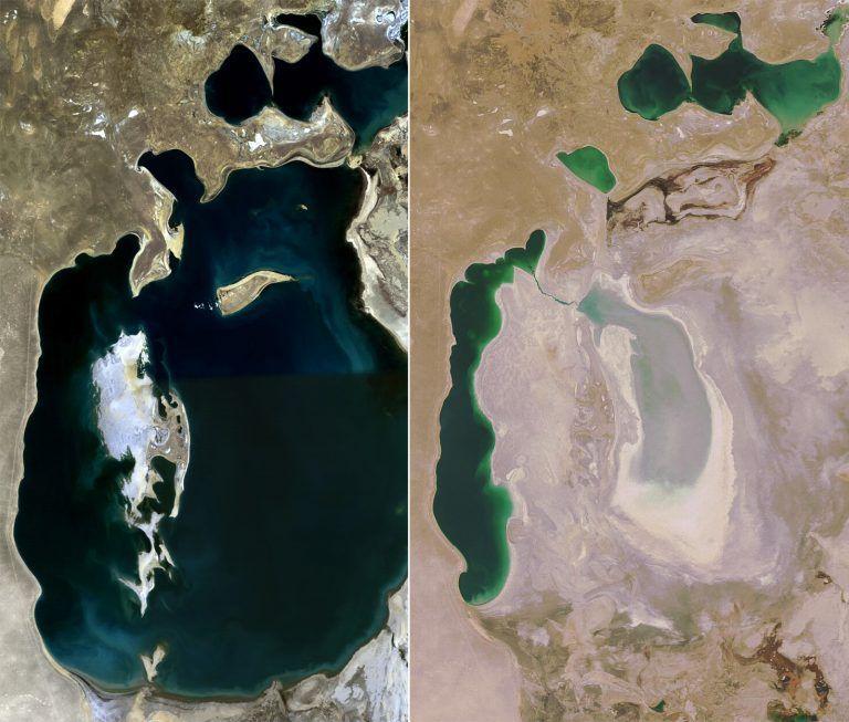 evolución del mar de aral