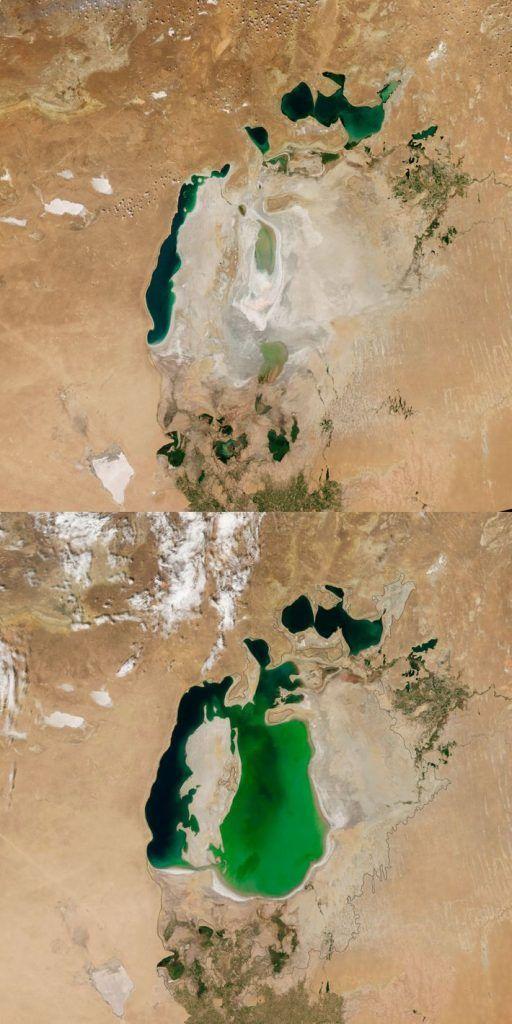 Mar de Aral en la actualidad