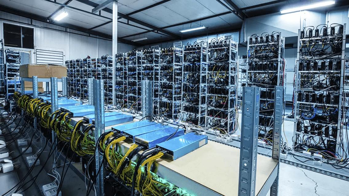 Granja de minería bitcoins