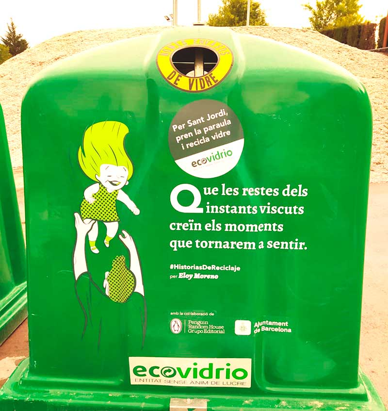 contenedores literarios de Ecovidrio Barcelona