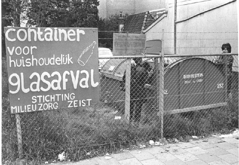 primer contenedor de vidrio de la historia en Zeist