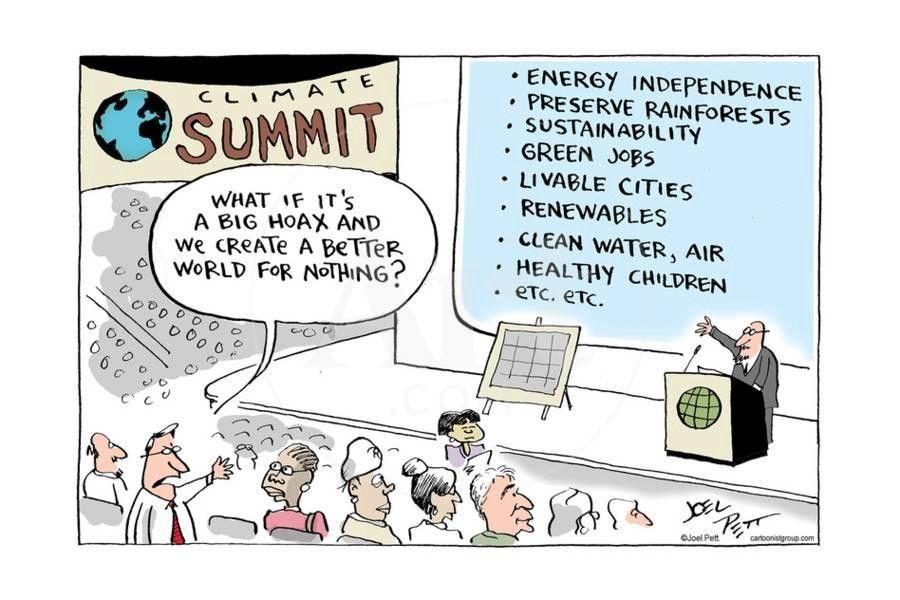 viñetas contra el cambio climático de Joel Pett