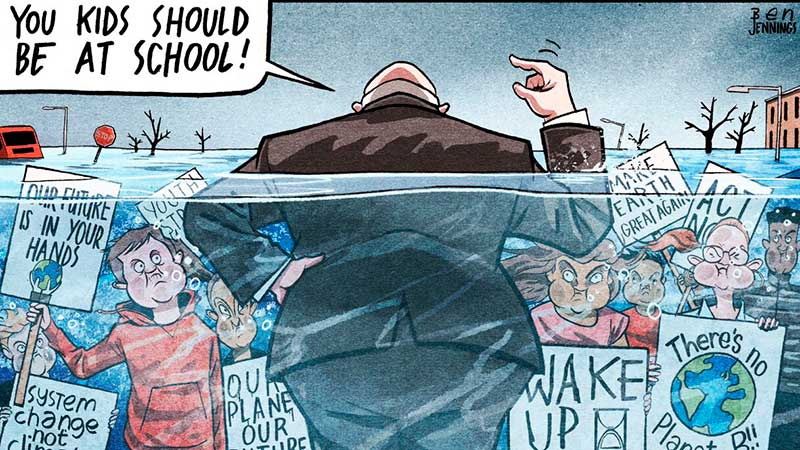 Viñeta de Ben Jennings en The Guardian