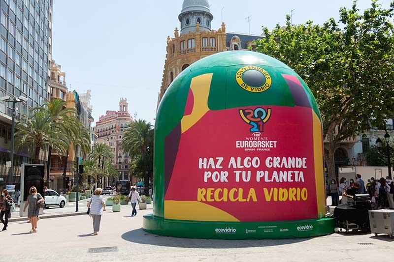 el contenedor de vidrio más grande del mundo Eurobasket Valencia