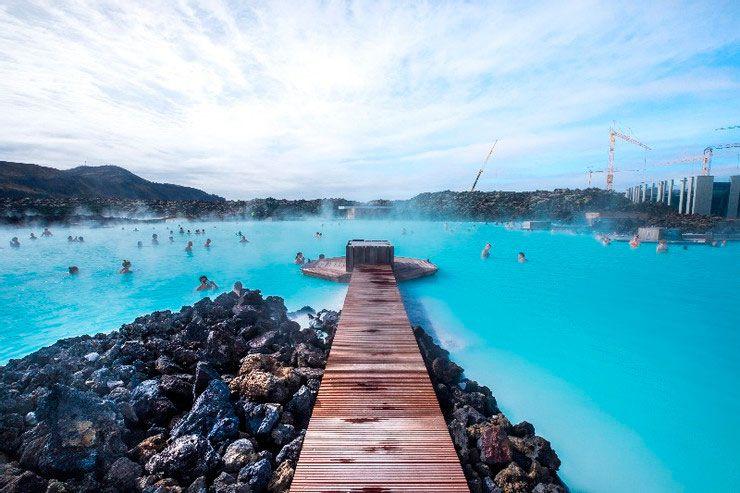 Blue Lagoon en Islandia energía geotérmica