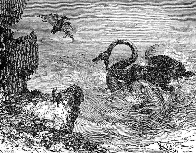ilustración de Viaje al Centro de la Tierra de Julio Verne