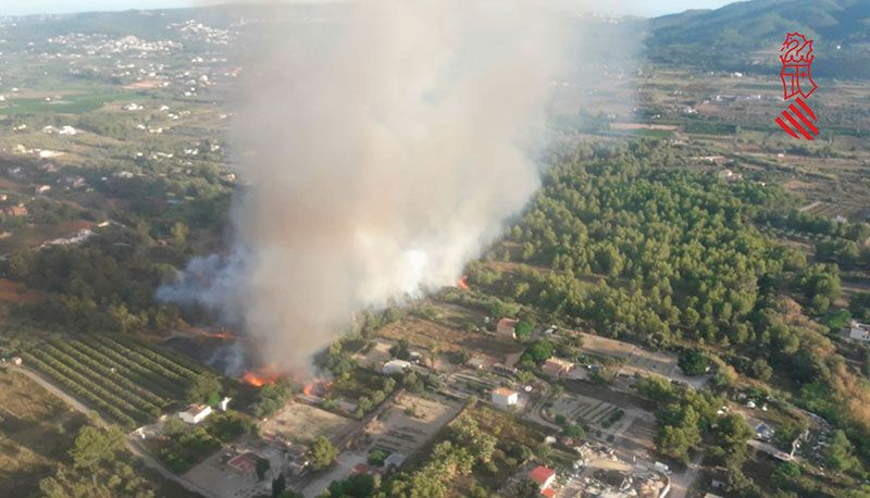 incendios forestales en Jávea, Alicante