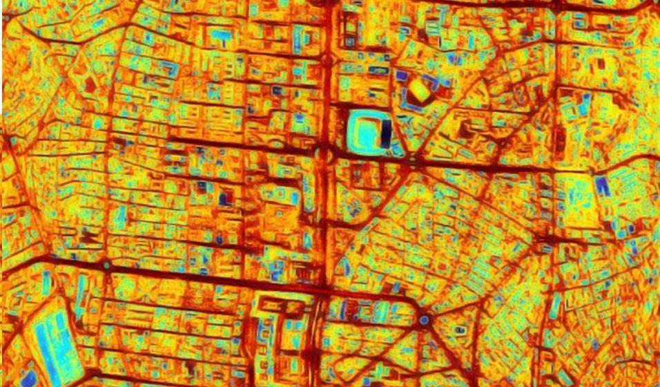 Imagen térmica de Madrid con islas de calor