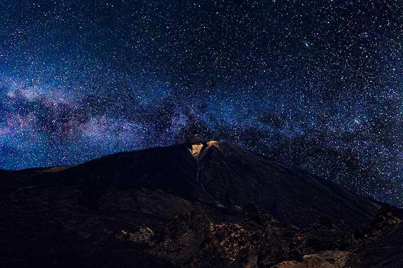 lluvia de estrellas en el Teide Canarias