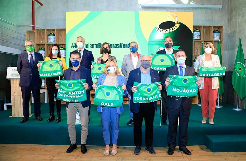 acto de entrega de premios banderas verdes ecovidrio